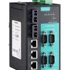 Асинхронный сервер NPort S8455I-SS-SC 4 port RS-232/422/485, 3 x 10/100 Ethernet, 2 x 100SM Fiber, SC, 12-48 VDC
