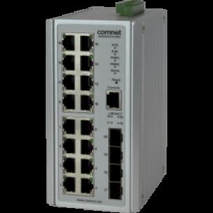 Гигабитный коммутатор CNGE20FX4TX16MS - новинка от ComNet в сфере промышленного оборудования