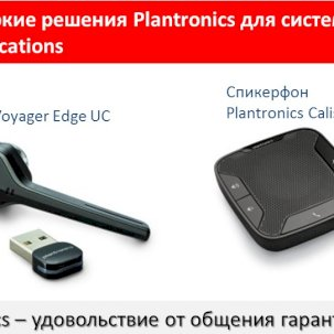 Plantronics для систем Unified Communications