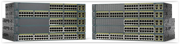 Внешние отличия коммутаторов Cisco линейки 2960